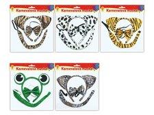 Maska set 3ks mix zvířátek (čelenka,ocásek,motýlek)