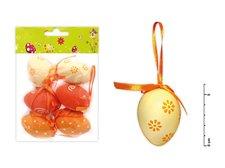 Vajíčka plast 6cm/6ks mix S150067/O