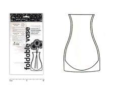 Váza 9411 plast.bez dekoru plastová skládací 22cm