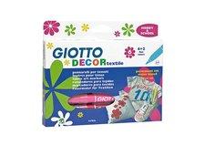 Popisovač Giotto Decor Textile  6 ks/kartonová krabička