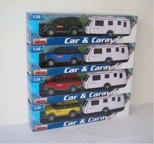 1:32 Auto s karavanem