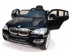 Beneo Elektrické autíčko BMW X6 Luxury černé, 2 motory, ovládací panel, R/C 2,4GHz, EVA kola