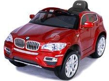 Beneo Elektrické autíčko BMW X6 Luxury LAK červené, 2 motory, ovládací panel, R/C 2,4GHz, EVA kola