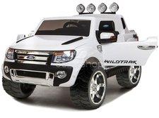 Elektrické auto Pickup Ford Ranger - bílé, 2 motory, R/C, EVA kola