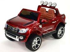 Dimix Elektrické autíčko Ford Ranger Wildtrak červené LAKOVANÉ 2 motory, R/C 2,4GHz, EVA kola, kůže