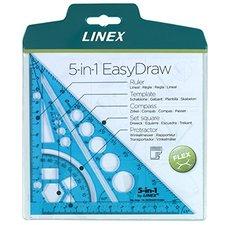 LINEX Multifunkční pravítko trojúhelník 5 v 1 - sv.modrá