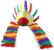 Čelenka indiánská barevná