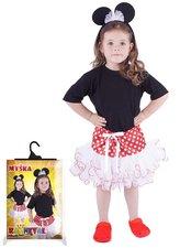 Karnevalový kostým myška Minnie, sukně + čelenka