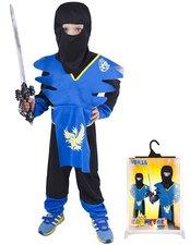 Karnevalový kostým NINJA modro-žlutý, vel. S