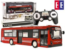 Autobus na dálkové ovládání červený