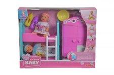 SIMBA Dětský pokoj + 2 panenky pije + čůrá 12 cm