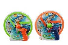 Létající disk, na natažení, 2 druhy