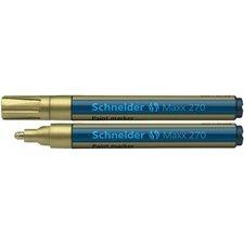 Schneider Paint Marker 270 - lakový popisovač zlatý