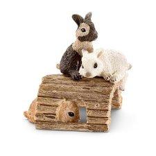 Schleich - Zvířátko - mláďata králíků hrající si