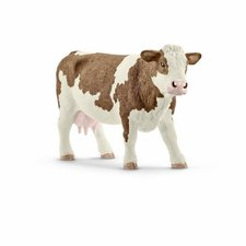 Schleich - Zvířátko - Kráva simmentálská