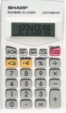 Kapesní kalkulátor  SHARP EL 233ER