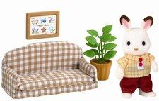 """Sylvanian Families Nábytek """"chocolate"""" králíků - taťka na pohovce"""