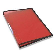 Foldermate Pop Gear - transparentní 4kroužkový pořadač - červený