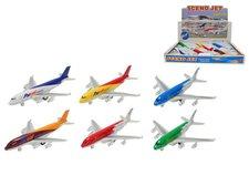 Mikro Trading Letadlo kov 21cm na zpětné natažení asst 6 druhů