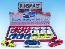 Mikro Trading Auto Kinsmart Shelby Mustang GT500  kov 12cm na zpětné natažení asst 4 barvy 12k