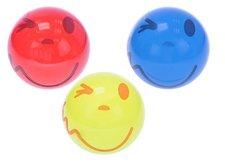 Mikro Trading Míč 14cm s úsměvem asst 3 barvy 10m+ v síťce