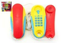 Teddies Telefony pokoj - pokoj plast na baterie 2ks vzdálenost 7m v krabici