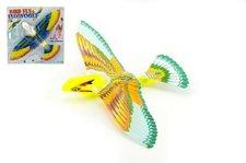 Teddies Létající pták natahovací plast 39x25cm asst 2 druhy na kartě