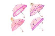 Teddies Deštník 3D princezna/víla průměr 70cm asst 2 barvy v sáčku