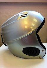 Lyžařská snowboardová helma V-CAN stříbrná