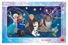 Dino Puzzle Sněhové vločky deskové 15 dílků Frozen/Ledové království 30x19cm