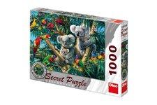 Dino Puzzle Koaly 12 skrytých detailů 1000 dílků 66x47cm