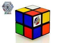 Teddies Rubikova kostka hlavolam 2x2 plast 4,5x4,5cm na kartě
