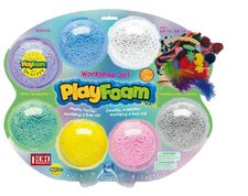 PEXI PlayFoam Modelína/Plastelína kuličková s doplňky 7 barev na kartě