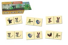 Detoa Domino Krtek dřevo společenská hra 28 dílků v dřevěné krabičce