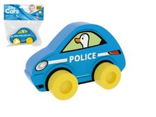 Millaminis Moje první auto Policie husa modré pěna 10x7cm v sáčku 0+