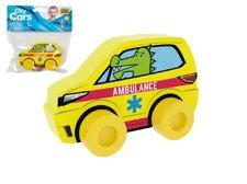 Millaminis Moje první auto Ambulance krokodýl žluté pěna 10cm na kartě 0+