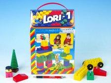 LORI Stavebnice LORI 1 plast 50ks v krabici 19x28x10cm