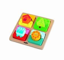 "Destička s puzzle-tvary ""Slunce domova"""