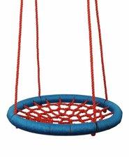 WOODY Houpací kruh 100 cm červeno-modrý