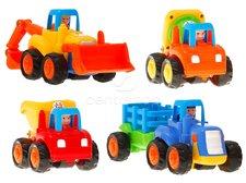 Sada autíček zemědělské a stavební stroje