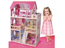 Dřevěný domeček 90 cm pro panenky