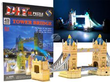 3D Svítící puzzle Tower Bridge